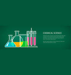 chemical laboratory equipment banner vector image