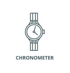 chronometer line icon linear concept vector image