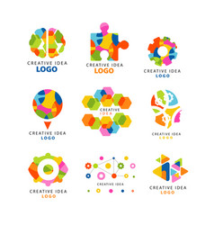 creative idea logo abstract colorful elements and vector image