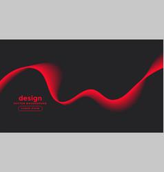 Dark gray background with red wave design vector