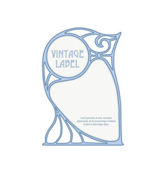 Decorative frame border good for product label vector
