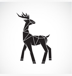 deer design on white background wild animals vector image