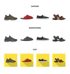 Design of shoe and footwear symbol vector