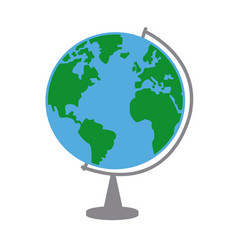 Earth globe 3d world planet concept of route vector