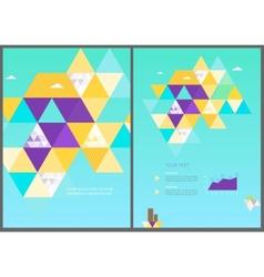 Eco geometric brochure template vector