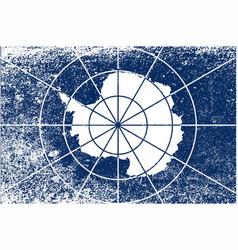 Flag of antarctica grunge vector