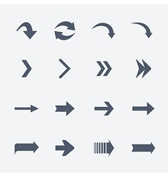 flat collection arrows icons isolated on vector image
