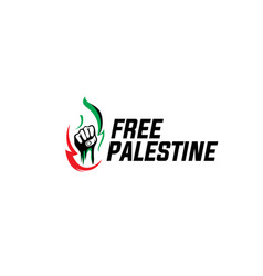 Free palestine design simple vector
