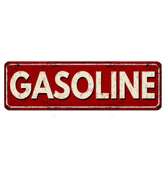 Gasoline vintage rusty metal sign vector