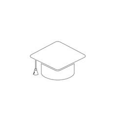 graduation cap flat icon vector image