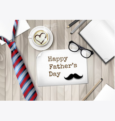 happy holiday fathers day background colorful tie vector image
