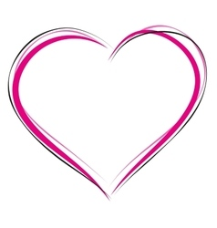 Heart symbol of love Sign of heart outline Heart vector