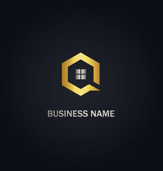 home window polygon business logo vector image