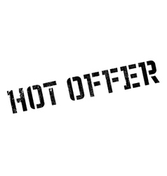 Hot offer rubber stamp vector