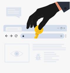 internet hacker attack vector image