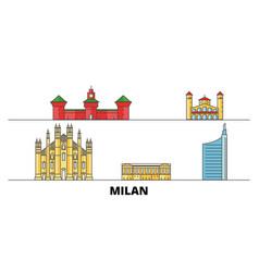italy milan city flat landmarks vector image