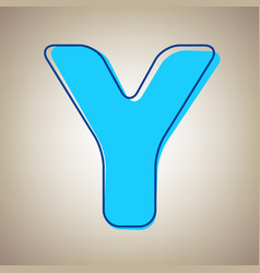 Letter y sign design template element sky vector