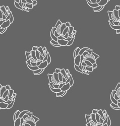 Lotus seamless pattern set vector