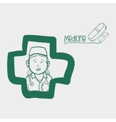 medical care design nurse icon flat vector image