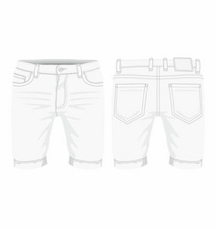 Mens white jeans vector