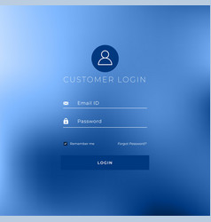 Minimal style login page template design vector