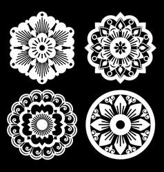moroccan retro mandala design collections vector image