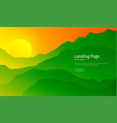 mountain landscape majestic mountains background vector image