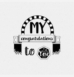 my congratulations to you banner badge for a vector image