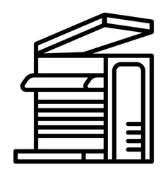 office xerox icon outline style vector image