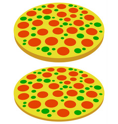 pizza symbols pizza icons perspective 2 versions vector image