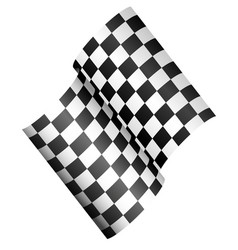 race flag - checkered 3d flag vector image