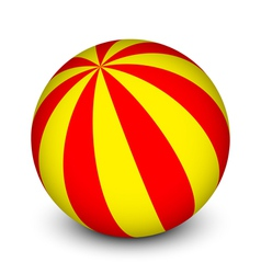 Red and yellow ball vector