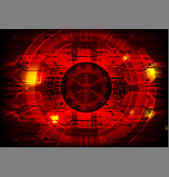 red digital technology concept background vector image