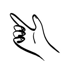 right hand pointing up sketch vector image