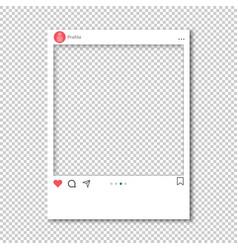 Screen interface for social media application vector