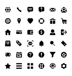 set ecommerce icons for online shop vector image