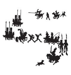 Shadow parade vintage vector
