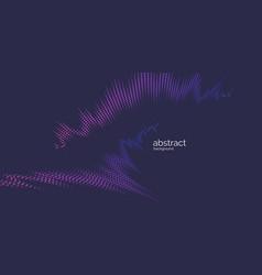 Sound wave on dark background vector