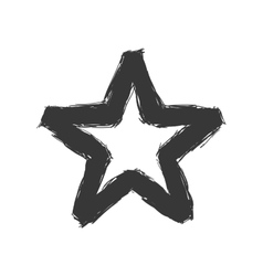 Star sketch icon Shape design graphic vector