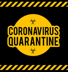 stop coronavirus covid-2019 on blue background vector image