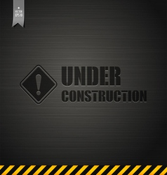 Under construction template background vector