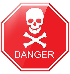 Warning danger sign vector image