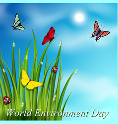 world environment day postcard background vector image