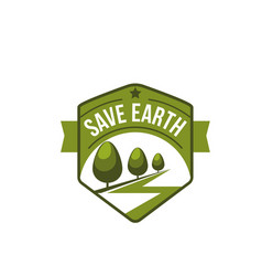 earth day nature ecology conservation icon vector image
