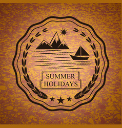 summer holidays emblem vector image