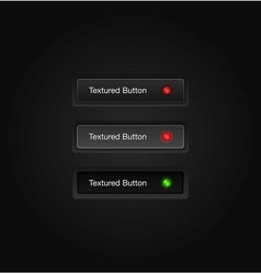 Textured web buttons vector image vector image