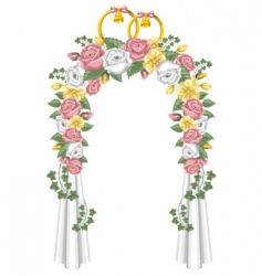 Wedding arch vector