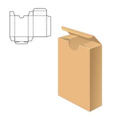 clear carton box vector image vector image