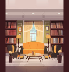 cozy living room interior design with furniture vector image