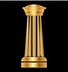 Gold column ancient greek vector